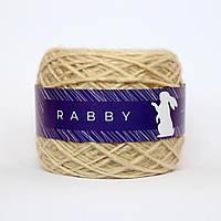 Пряжа с альпакой RABBY Nemo кремовая 100г