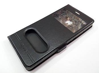 Чехол книжка с окошками momax для Huawei P9 Lite черный