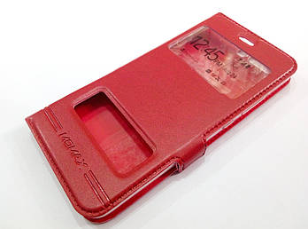 Чехол книжка с окошками momax для Huawei P10 красный