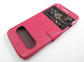Чехол книжка с окошками momax для Huawei Ascend G7 розовый