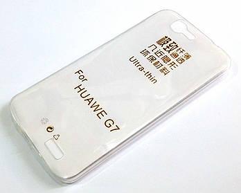 Чехол для Huawei Ascend G7 силиконовый ультратонкий прозрачный