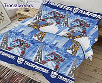 Детский комплект постельного белья Transformers  ТМ TAG Ранфорс хлопок 160х220