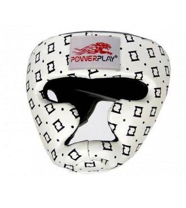 Боксерський шолом тренувальний PowerPlay 3044 Білий XL, фото 2