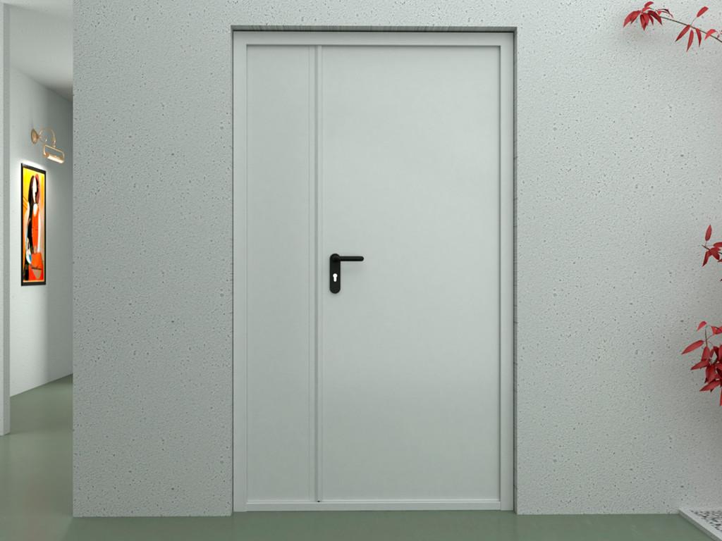 Двері DoorHan протипожежні двостулкові глухі DPG60/1450/2050/7035/R/N