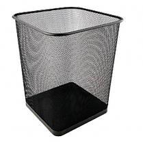 Корзина д / бумаг AXENT 2124-01 металлическая квадратная 270 * 300мм ЧЕРНАЯ (1)