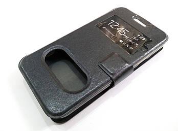 Чехол книжка с окошками momax для Huawei Ascend Y330 черный