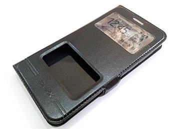 Чехол книжка с окошками momax для Huawei Y5 II / Y5-2 / Y5 2 (cun-u29) черный