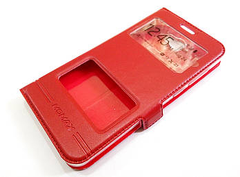 Чехол книжка с окошками momax для Huawei Y5 II / Y5-2 / Y5 2 (cun-u29) красный