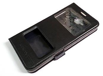 Чехол книжка с окошками momax для Huawei Y6 Pro черный