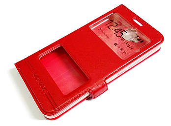 Чехол книжка с окошками momax для Huawei Y6 Pro красный