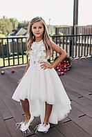 Праздничное пышное платье со шлейфом для девочки