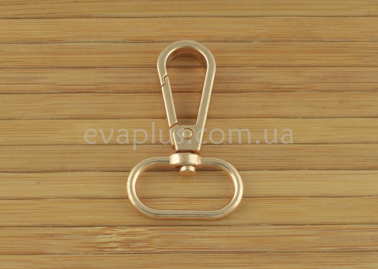 Карабин для сумки 25 мм. 1025з (золото)