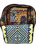 Джинсовый рюкзак синие ромбы, фото 4
