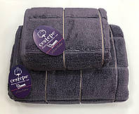 Рушник Gestepe Premium Kare 70-140 сливовий, фото 1