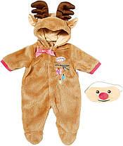 Одежда кукол Беби Анабель Baby Annabell костюм оленя Zapf Creation 701157