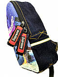 Джинсовый рюкзак  Supreme, фото 2