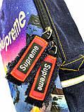 Джинсовый рюкзак  Supreme, фото 3