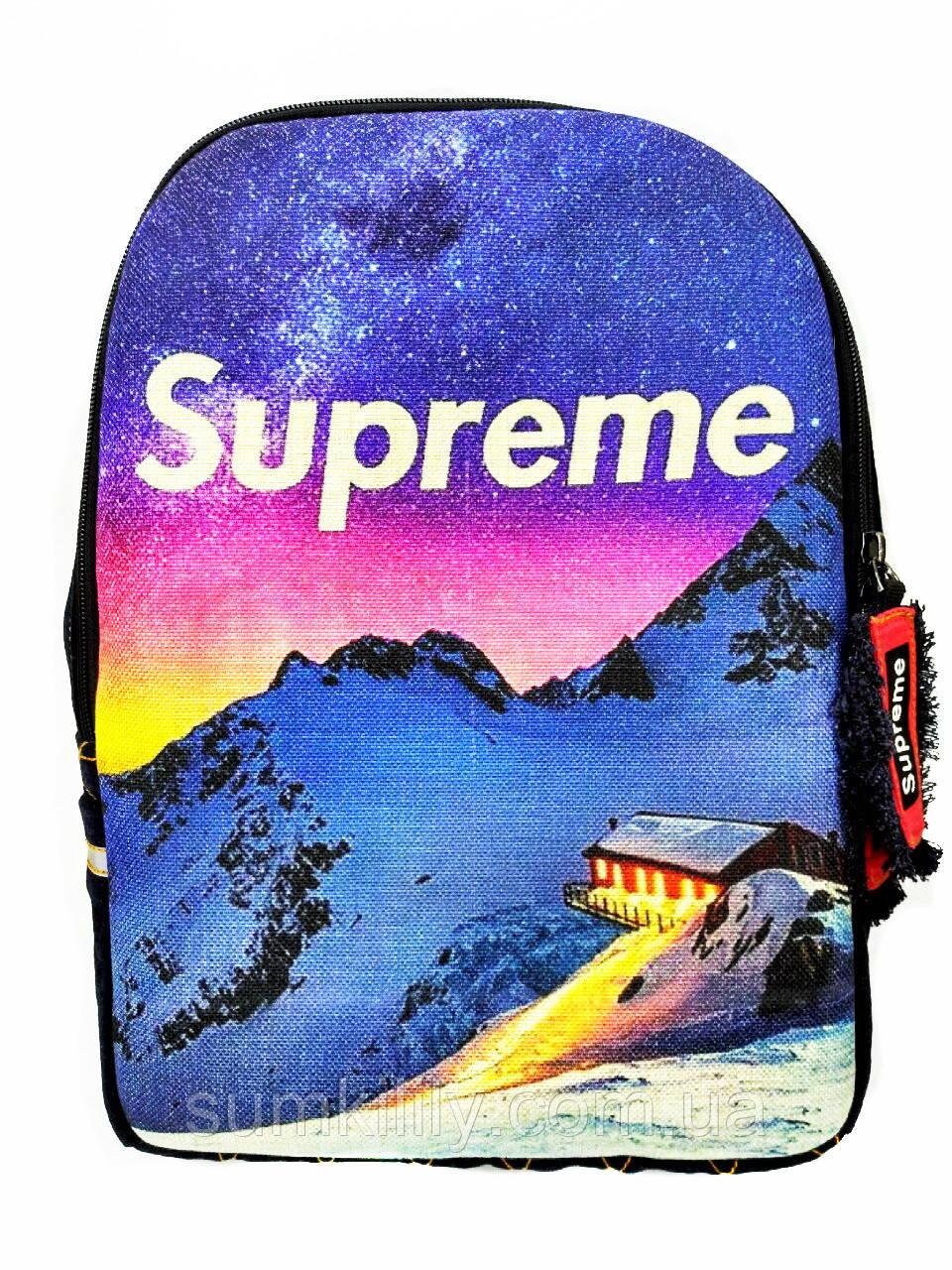 Джинсовый рюкзак  Supreme