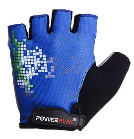 Велорукавички PowerPlay 002 D Сині L