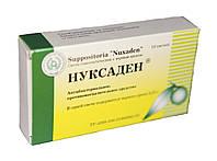 Нуксаден свечи гомеопатические с черным орехом антибактериальные, противогрибковые