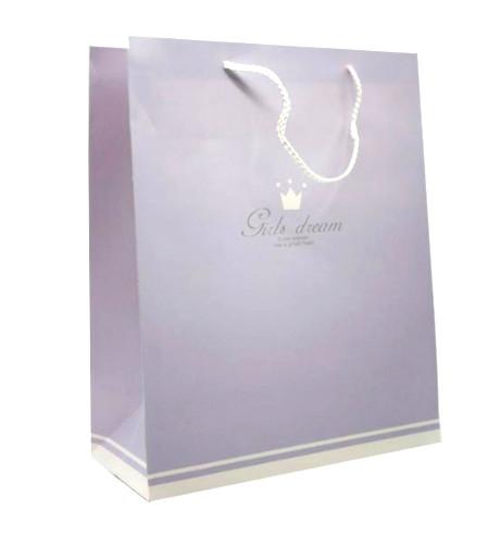 Пакет подарочный (26*32*12) Girls Dream lilac