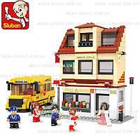 Конструктор Sluban (Слубан) школьный автобус и школа: 496 деталей