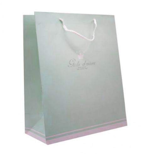 Пакет подарочный (26*32*12) Girls Dream бирюза