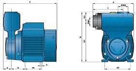 Насос вихревой самовсасывающий Pedrollo модель PKSm 70 (трехфазный), фото 2