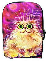 Джинсовый рюкзак Розовая кися, фото 1