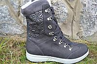 Ботинки жен. Grisport итальянские 43609 чер. нубук, фото 1