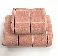 Рушник Gestepe Premium Kare 70-140 пудра, фото 1