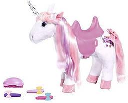Лошадка единорог для куклы Беби Борн плюшевый светиться рог интерактивный Baby Born Zapf Creation 828854