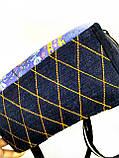 Джинсовый рюкзак ЛЕВ синий, фото 4
