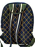 Джинсовый рюкзак ЛЕВ синий, фото 5