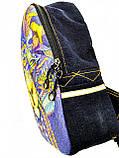 Джинсовый рюкзак ЛЕВ синий, фото 2