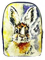 Джинсовый рюкзак ЗАЙЧИК, фото 1