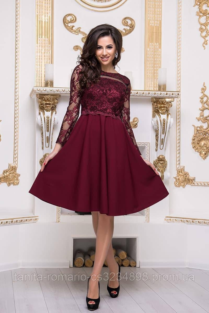 Коктейльне плаття 8192 Бордо