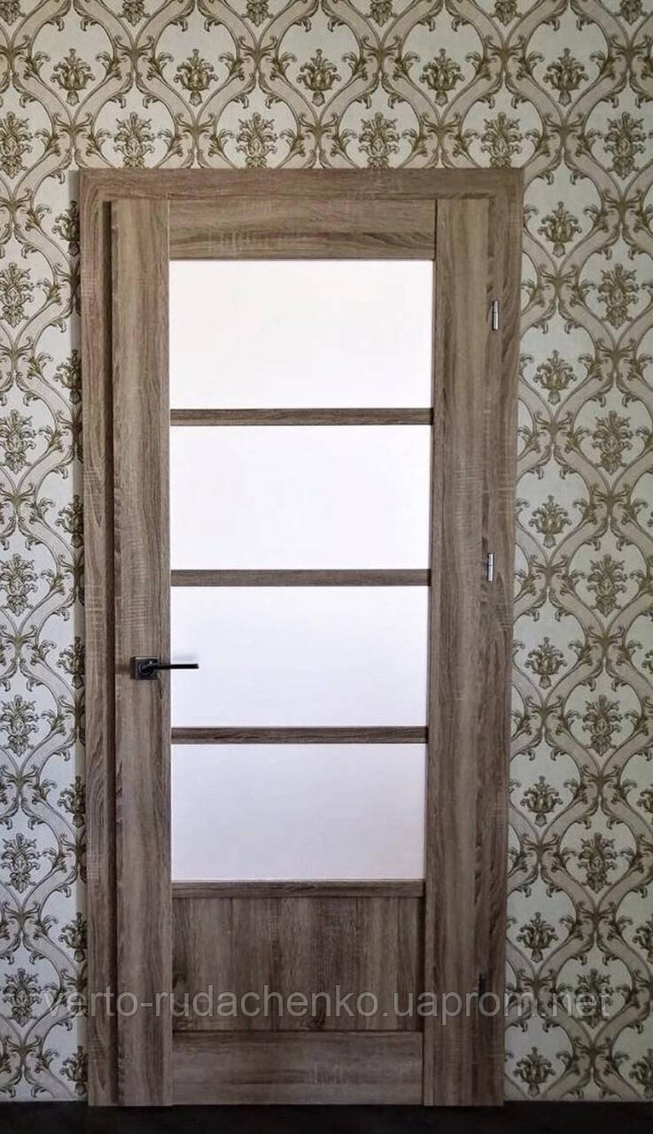Двери EcoDoors BERGAMO 5 в декоре Дуб ретро