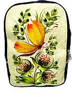 Джинсовый рюкзак Петриковская роспись, фото 1