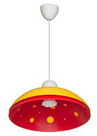 Светильник 1303, потолочный, 60W, жёлтый с красным, Е27