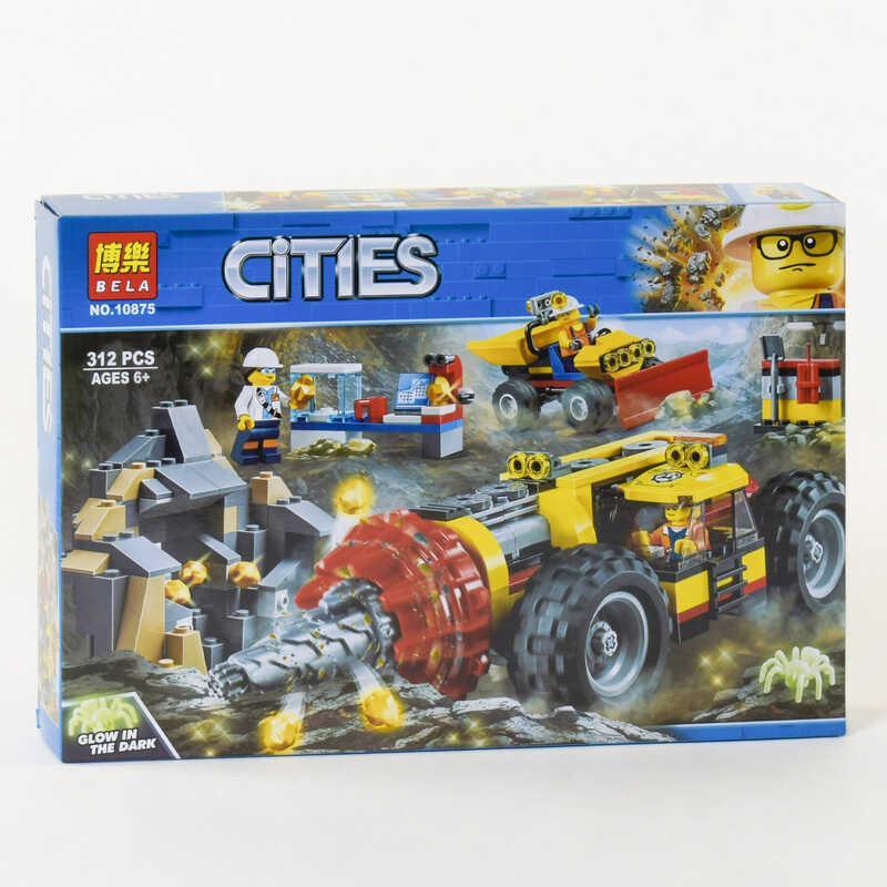 """Конструктор 10875 (24) Bela Cities """"Тяжелый бур для горных работ"""", 312 деталей, в коробке"""