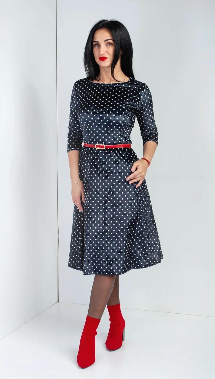 Очаровательное платье в горошек.Разные цвета