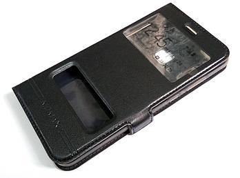 Чехол книжка с окошками momax для Huawei P10 Lite черный