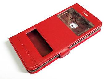 Чехол книжка с окошками momax для Huawei P10 Lite красный