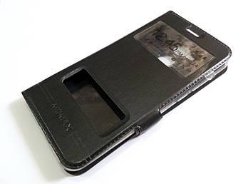 Чехол книжка с окошками momax для Huawei Honor 6A (Pro) черный