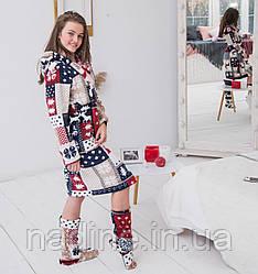Сказочный комплект Eirena Nadine (556-52 Норвежский узор) 152см Халат +сапожки