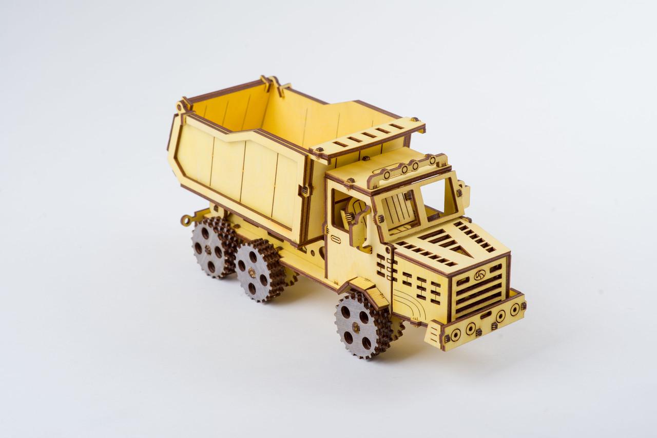 Деревяний Самоскид (Dump truck ) Механічний 3D пазл