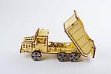 Деревяний Самоскид (Dump truck ) Механічний 3D пазл, фото 2
