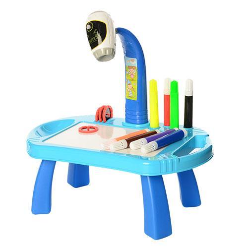 Столик для рисования с проектором 22088-17AB с фломастерами