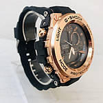 Мужские спортивные наручные часы Casio G-Shock (реплика) черный ремешок золотой циферблат, фото 3